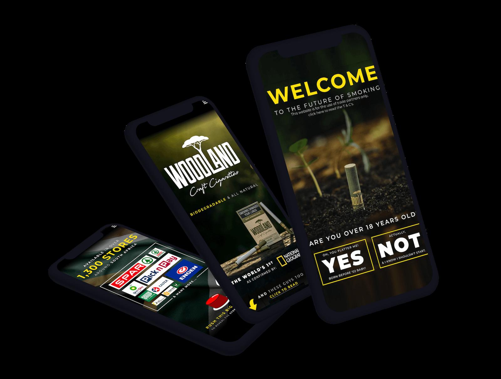 woodland cigarettes website promo